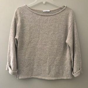 Zara Trafaluc Cropped sweater Oatmeal cream M